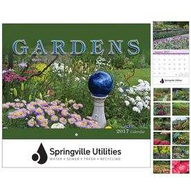 Customized Gardens Wall Calendar - Stapled