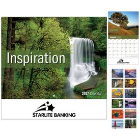 Custom Lnspiration Wall Calendar - Stapled