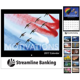 Customized Motivations Wall Calendar - Stapled