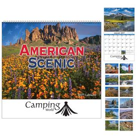 Promotional American Scenic Wall Calendar - Spiral