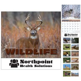 Customized Wildlife Wall Calendar - Stapled