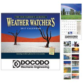 Promotional The Old FarmerS Almanac Weather WatcherS Wall Calendar - Spiral