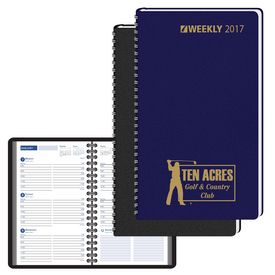 Promotional 5X8 Ruled Wired Pocket Calendar - One Week Per Page
