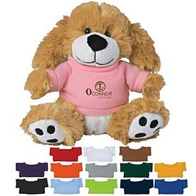 Custom 6 Big Paw Plush Dog With Shirt