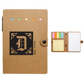 Customized Large Snap Notebook With Desk Essentials