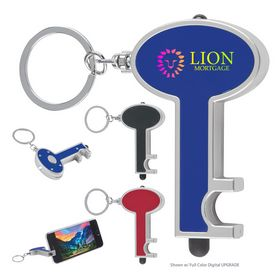 Promotional Skeleton Key Tag With Led And Stylus