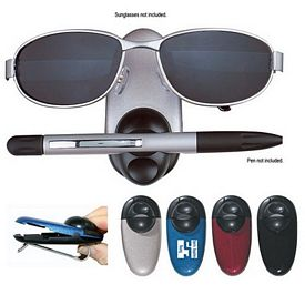 Promotional Dual Sunglasses And Pen Holder Sun Visor Clip