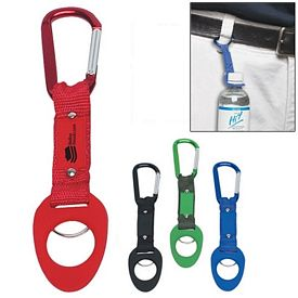 Customized 6Mm Carabiner With Travel Water Bottle Holder