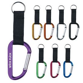 Customized 8Mm Carabiner With Strap