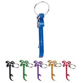 Promotional Palm Tree Bottle Opener Key Ring