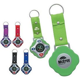 Promotional Sport Compass Key Ring