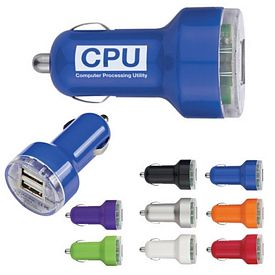 Customized Usb Dual Car Charger