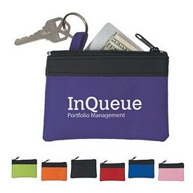 Promotional Pocket Zippered Coin Pouch