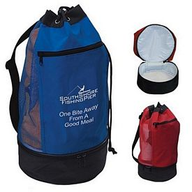 Custom Beach Bag With Insulated Lower Compartment