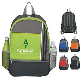 Promotional Two Tone Polyester Sport Backpack