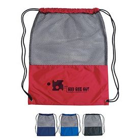 Promotional Mesh Sports Drawstring Backpack