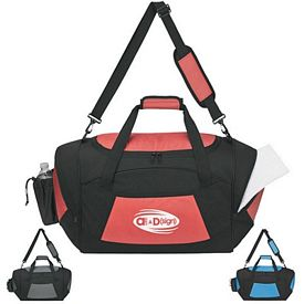 Promotional Double Zippered Locker Room Duffel Bag