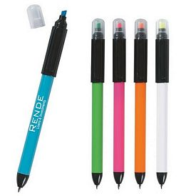 Promotional Twin-Write Pen Highlighter