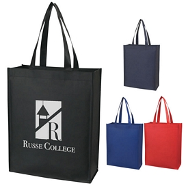Promotional Matte Laminated Vertical Non-Woven Shopper Tote Bag
