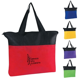 Promotional Non-Woven Zippered Shop Tote Bag