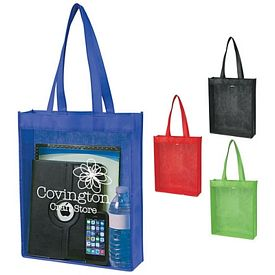 Promotional Non-Woven Clear View Tote Bag