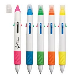 Promotional Quatro Pen With Highlighter