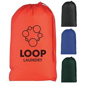 Customized Drawstring Non-Woven Laundry Bag