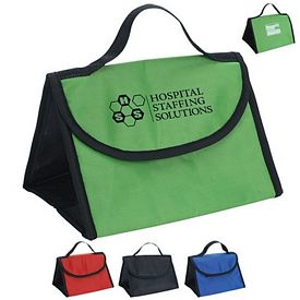 Promotional Polyester Velcro Triad Lunch Bag