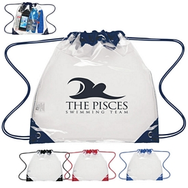 Promotional Small Clear Pvc Drawstring Backpack