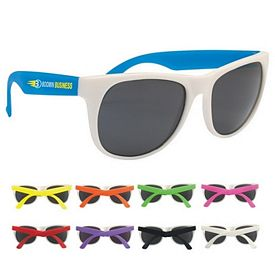 Promotional White Rubberized Sunglasses