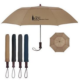 Promotional 44 Arc Telescopic Folding Wood Handle Umbrella