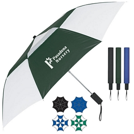 Promotional 44 Arc Telescopic Folding Vented Umbrella