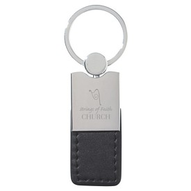 Custom Metal-Simulated Leather Key Tag