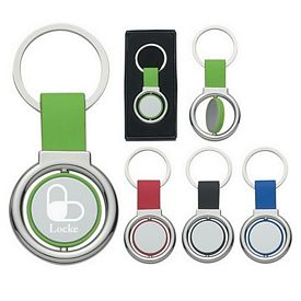 Customized Circular Metal Spinner Key Tag