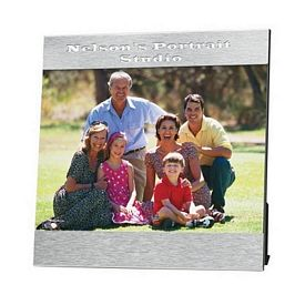 promotional 5 x 7 aluminum photo frame