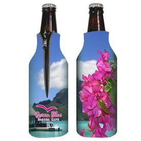 Promotional Zippered Full Color Bottle Coolie