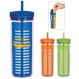 Promotional 20 Oz Straw Tumbler With Infusion Separator
