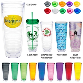 Customized 26 Oz Tritan Double Wall Tumbler With Insert
