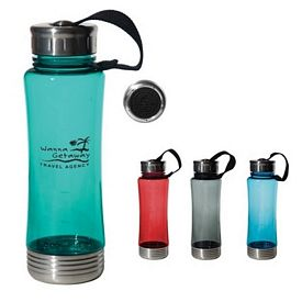 Promotional 22 Oz Fusion Polycarbonate Bottle With Stainless Bottom