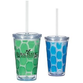 Customized 16 Oz Double Wall Tumbler With Cooling Inner Wall