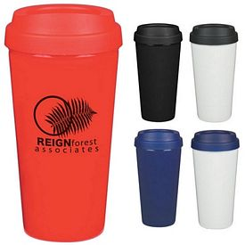 Promotional 16 Oz Double Wall Plastic Tumbler