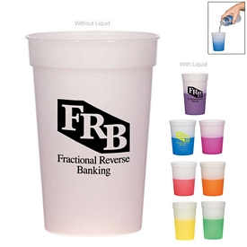 Promotional 16 Oz Color Changing Stadium Cup