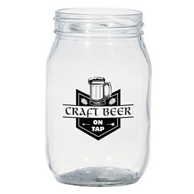 Customized 16 Oz Craft Beer Mason Jar Glass