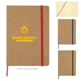 Promotional 5 X 7 Eco-Inspired Strap Notebook