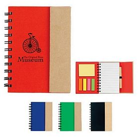 Promotional Small Spiral Notebook With Sticky Notes And Flags