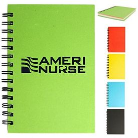Customized 5 X 7 Spiral Colored Paper Notebook