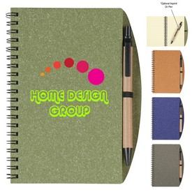 Custom 5 X 7 Eco-Inspired Spiral Notebook Pen