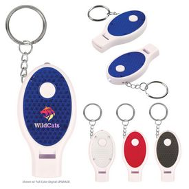 Customized Whistle Key Chain With Light