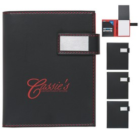 Promotional Leatherette Notebook With Magnetic Closure