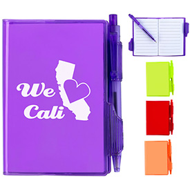 Promotional Jelly Jotter Pad Notebook With Pen